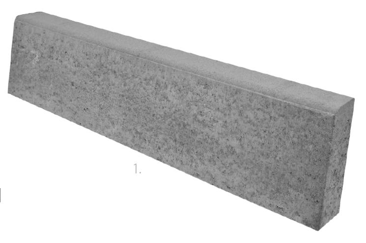 Méretek - Útszegély 8x25x100 cm